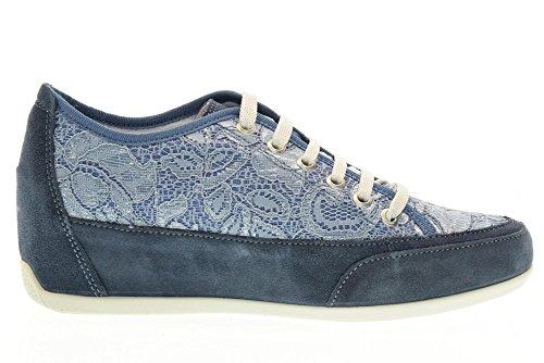 7787 JEANS Scarpa donna sneaker Igi&co pelle made in italy Blu