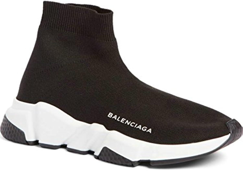 BestVIPQ Balenciaga Speed Trainer Sneaker Black White Unisex Herren Damen Balenciaga Laufschuhe Turnschuhe
