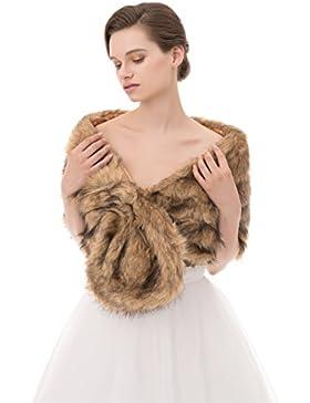 Insun Mujeres Chales Estolas de piel Boleros Chal de moda de lujo para fiesta bodas
