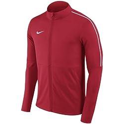 Nike Park 18 Football Jacket Veste Mixte Enfant, University Red (White), FR : M (Taille Fabricant : M)