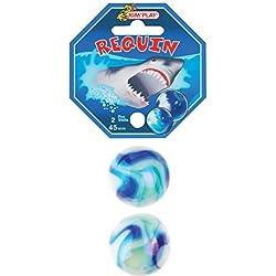 Pack 2Canicas gigantes Tiburón