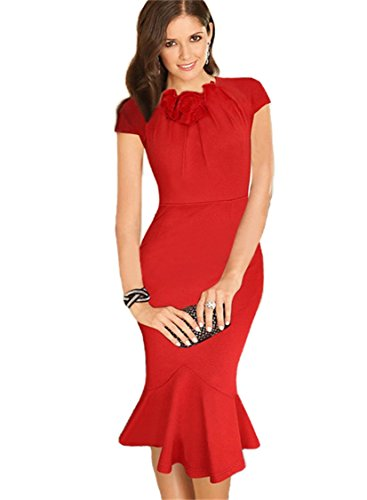 KingField - Robe - Crayon - Femme Medium Rouge - Rouge