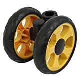 SLB Works 105mm Dia Plastic Double Wheel 360 Degree Pulley for 16mm Round Tube