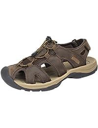 SK Studio Hombre Montaña Sandalias de Cuero Outdoor Punta Cerrada Zapatos Con Velcro