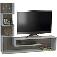 Alphamoebel - Sopporto Tv, Mobile Tv, Porta tv, Parete attrezzata soggiorno ''Marina, colore: Bianco/ Cordoba 2053