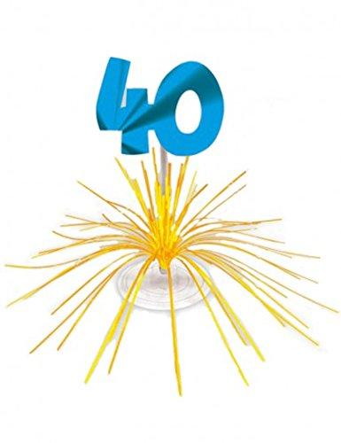 Centre de table d'anniversaire 40 ans 3609810029774