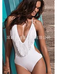 MLDYZ Maillot De Bain Bikini Taille Haute - Timbres De L'Ouest Taille Haute Sexy Bikini Bikini Split, Bleu Tibétain ,Xl