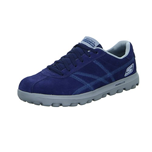 Herren Schnürhalbschuh sportlicher Boden sportliche Optik, Marineblau,42.5 (Skechers On The Go)