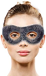Gel Eye Mask with Eye Holes- Hot Cold Compress Pack Eye Therapy | Cooling Eye Mask for Puffy Eyes, Dry Eyes, H