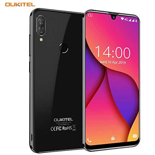 OUKITEL C16 Pro Dual 4G Smartphone Libre, Android 9.0 Quad-Core Teléfono móvil,3GB RAM+ 32GB ROM,5.71' HD+ 19:9 IPS Waterdrop Pantalla,Cámara 8MP+5MP,Batería 2600mAh,Face ID+Fingerprint+GPS (Negro)