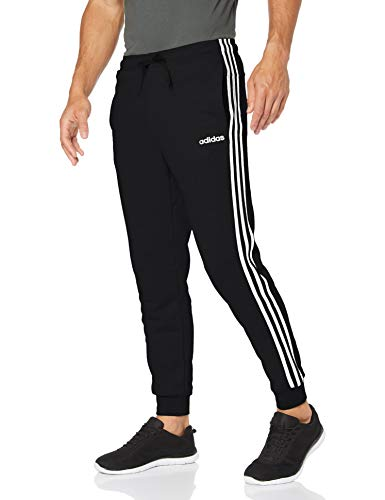 adidas Herren Essentials 3-Streifen Tapered Trainingshose, Schwarz (Black/White), M