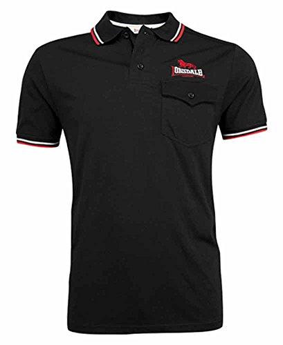 Lonsdale Poloshirt LYNTON Men Slim Fit Poloshirt - black Schwarz