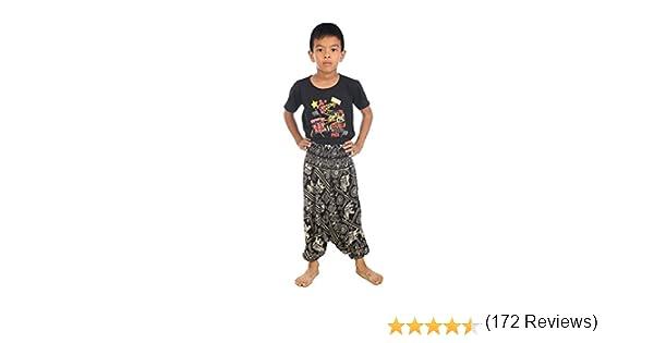 Lofbaz Bambini Ragazzi Ragazze Harem Pantaloni Aladdin Estate Tuta