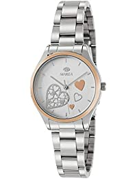 Marea B41240/5 Reloj para Mujer con Correa Plateada y Pantalla en Blanco
