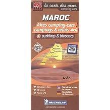 Maroc, aires camping-cars, campings et relais 4x4, parkings et bivouacs : 1/1 000 000