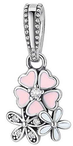 SaySure - 925 Sterling Silver Blooms Dangle Charm Beads