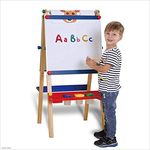 z Staffelei vierseitige magnetische Halterung Art verstellbare Höhe Kunst Staffelkleine Tafel für Kinder zu schreiben Malerei ()