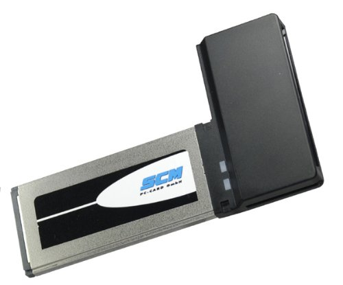 SCM ADE ExpressCard 34 Adapter für PCMCIA, SRAM, Linear Flash, ATA, Cardbus Adapter -