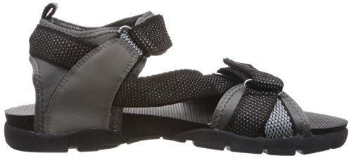 Sparx Men's Black and Grey Athletic and Outdoor Sandals - 8 UK/India (42 EU)(SS-105)