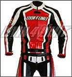 4LIMIT Sports Motorrad Lederkombi LAGUNA SECA Zweiteiler, Rot-Schwarz-Weiß, Größe L