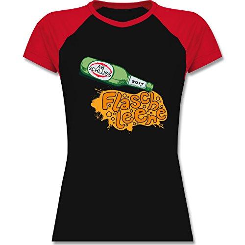 Abi & Abschluss - ABSCHLUSS 2017 Flasche leer - zweifarbiges Baseballshirt / Raglan T-Shirt für Damen Schwarz/Rot
