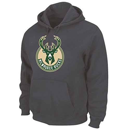 Poly Hoody (Profile Big & Tall NBA Youth Poly Synthetik Pullover Hoody, Unisex-jugendliche, NBA youth poly synthetic pullover hoody, granit, X-Large)