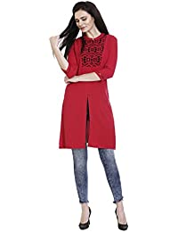 3/4 th sleeve Mandrin neck Kurti