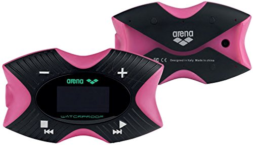 Arena Swimming MP3 Pro – Reproductor MP3 (MP3, Flash-media, Negro, Rosa, USB 2.0, OLED, FM)