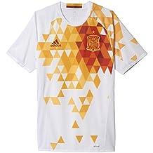 Adidas - Camiseta segunda equipación España UEFA EURO 2016 Authentic, color blanco/ rojo/ amarillo, talla XL