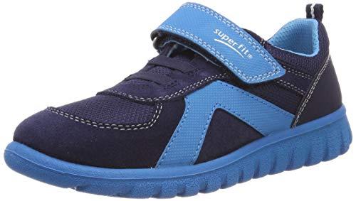 Superfit Baby Jungen SPORT7 Mini Lauflernschuhe, (Blau 80), 34 EU