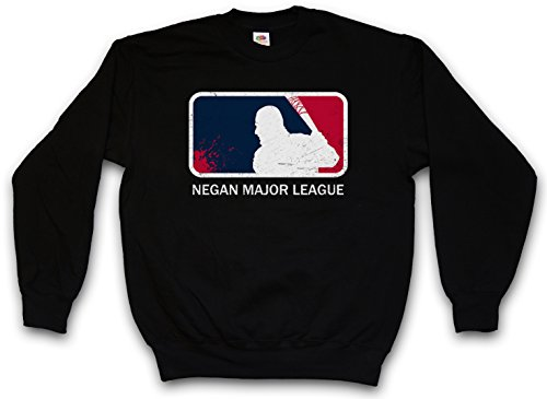 "NEGAN MAJOR LEAGUE ""J"" PULLOVER SWEATER SWEATSHIRT MAGLIONE - Walking The Lucille Baseball Bat Dead Rick Carl Zombie Grimes Biters Barbwire Taglie S - 3XL"