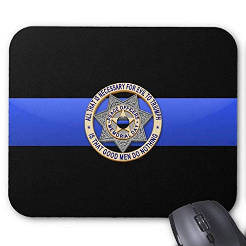 Thin Blue Line - Badge Mouse Pad 18×22 cm (Gay Star Wars)
