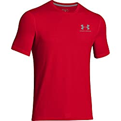 Under Armour Cc Left Chest Lockup, Camiseta para Hombre, Rojo (Red/Steel), L