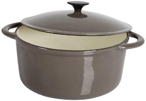 Crealys 513360 - Cocotte redonda, hierro fundido, diámetro de 26 cm