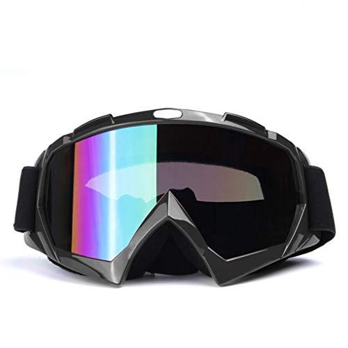 JSHFD Schutzbrillen, Skibrillen, Schutzbrillen für den Außenbereich (Farbe : SCHWARZ)