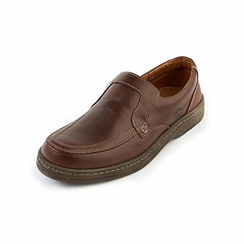 SoftWalk Adam Marron Confort, Coupe Large, Mocassins, Décontracté - marron - marron, 47