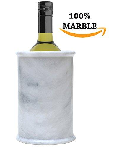 RADICALn Marmor Weinkühler 12,5x12,5x16,5 CM Weißwein Eimer Chiller - am besten für Küchengerät...