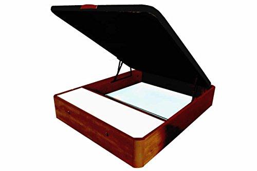 COTINO - Canapé abatible madera con cajones frontales 135/190 Cerezo tono nogal