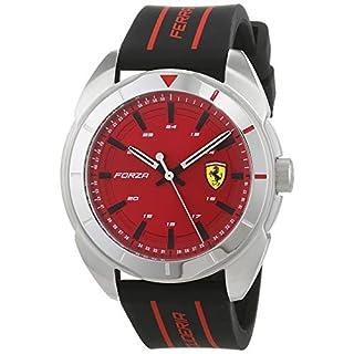 Scuderia Ferrari Herren Analog Quarz Uhr mit Silikon Armband 830543