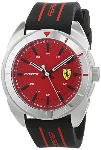 Scuderia Ferrari Hommes Analogique Quartz Montre avec Bracelet en Silicone 830543