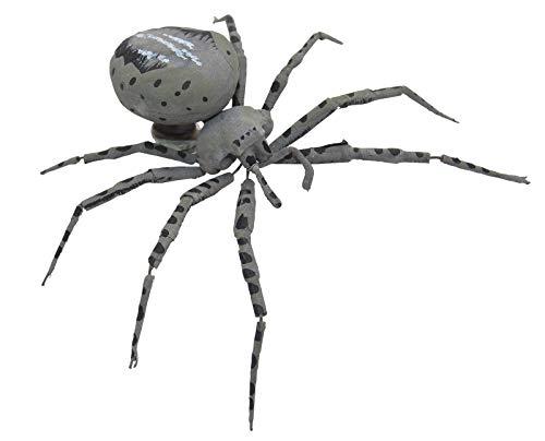 : croce ragno grigio–magnetico ragno, scherzo 1° aprile magnetica magnete, insetti, ragno, ausgefallen idea regalo di carnevale e halloween, grusel magnetica motto party, estremamente insecting
