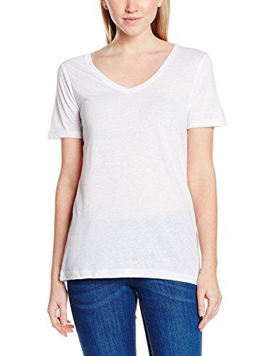 ICHI Jasmin V Ss, T-Shirt Femme Weiß (White 10100)
