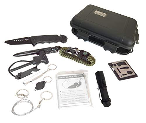 Tactical Hunters - Kit de Supervivencia Profesional, Equipo de Herramientas Militares para...