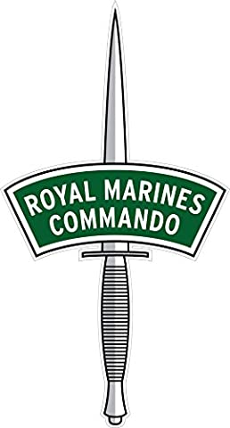 ROYAL MARINES COMMANDO DAGGER CAR STICKER - Ideal for tablets, laptops, cars, school books, mirrors, phones, scooters (Small - 80mm x 43mm)