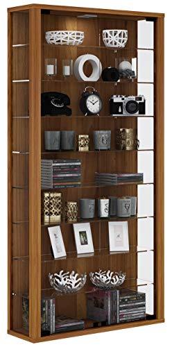 """VCM Wandvitrine Sammelvitrine Glasvitrine Wand Vitrine Regal Schrank Glas ohne Beleuchtung Kern-Nussbaum """"Vitrosa Maxi"""""""