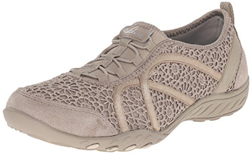 Skechers Breathe-easy meadows, Baskets Basses femme Taupe Meadows