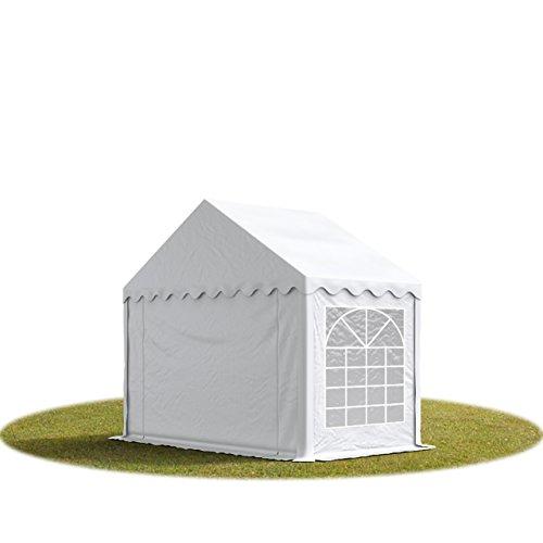 TOOLPORT Party-Zelt Festzelt 3x2 m Garten-Pavillon -Zelt 500g/m² PVC Plane in weiß Wasserdicht