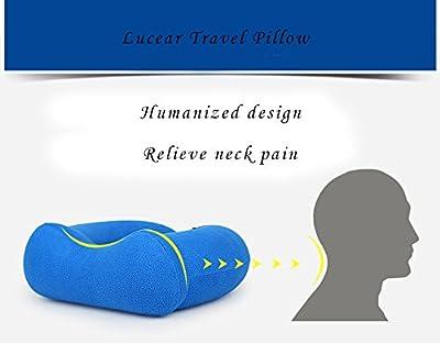Lucear Aufblasbares Nackenkissen Set, 2 Formen, Nackenhörnchen Reisekissen Schlaf im Flugzeug