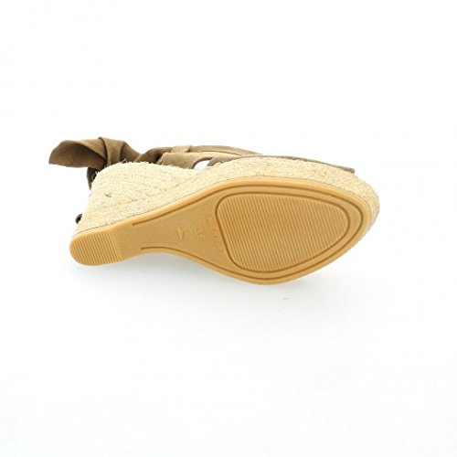 Pao Espadrille cuir velours cigare Cigare