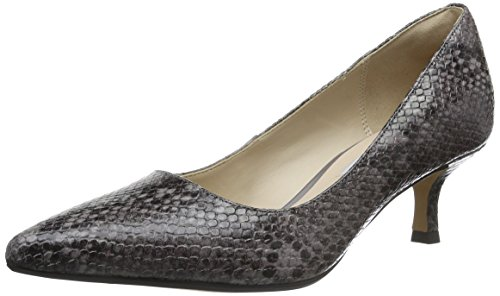Clarks Aquifer Soda Damen Pumps, Violett (Purple Grey Snake Leather), 41 EU Purple Snake Schuhe